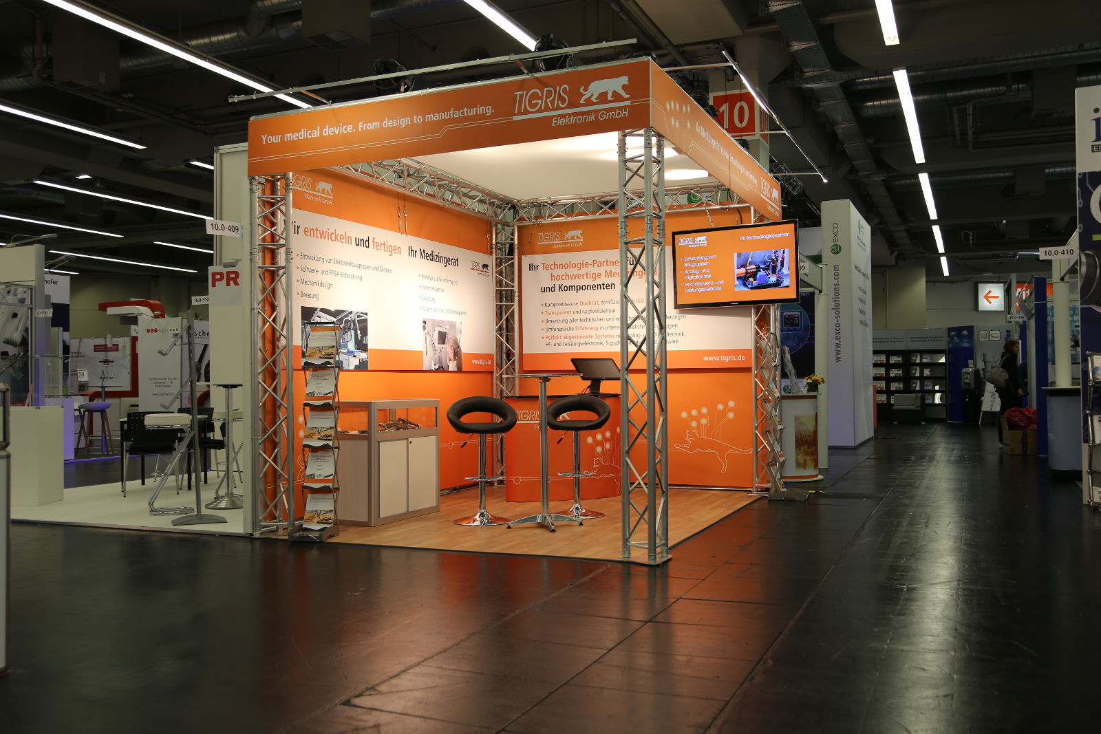 TIGRIS Messestand auf der MT-CONNECT 2018 in Nürnberg